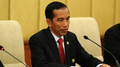 O presidente da Indonésia, Joko Widodo