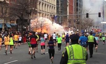 Momento de uma das explosões.
